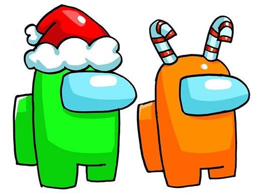 Jogo Among Us Christmas Coloring