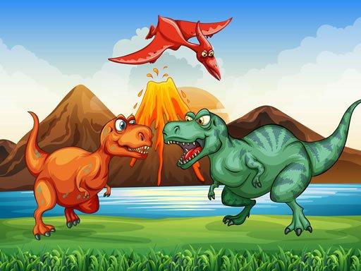 Jogo Colorful Dinosaurs Match 3