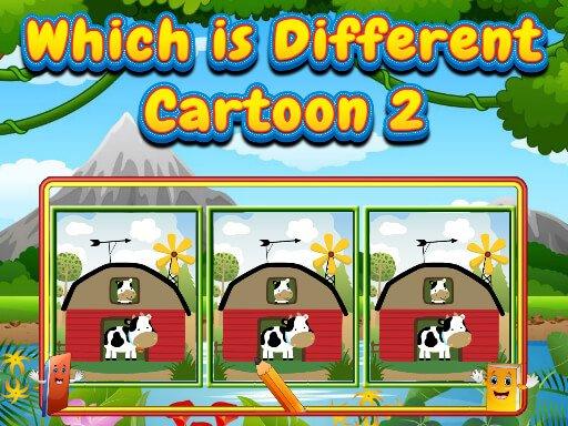 Jogo Which Is Different Cartoon 2