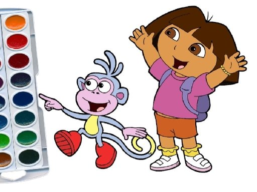 Jogo Dora The Explorer Coloring Book