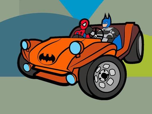 Jogo Superhero Cars Coloring Book
