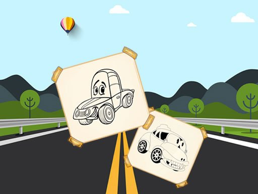 Jogo Funny Cars For Kids Coloring