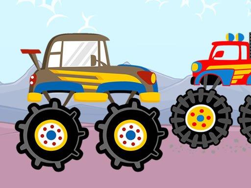 Jogo Fun Monster Trucks Jigsaw