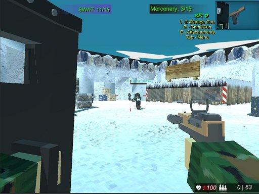 Jogo Blocky Combat Swat 2