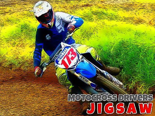 Jogo Motocross Drivers Jigsaw