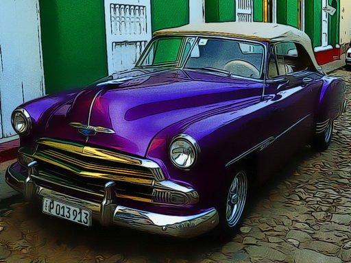 Jogo Cuban Vintage Cars Jigsaw