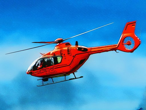 Jogo Helicopter Puzzle