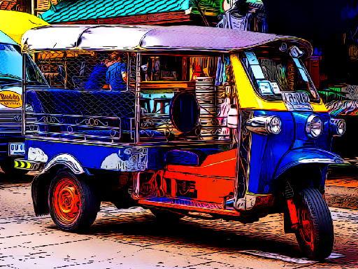 Jogo Tuk Tuk Tricycle Puzzle
