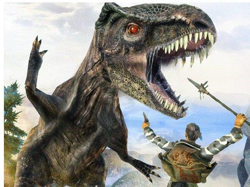 Jogo Dinosaur Hunting Dino Attack Jigsaw