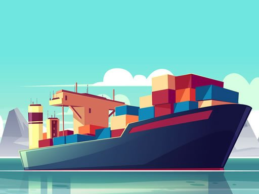 Jogo Cargo Ships Jigsaw