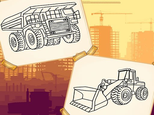 Jogo Construction Trucks Coloring