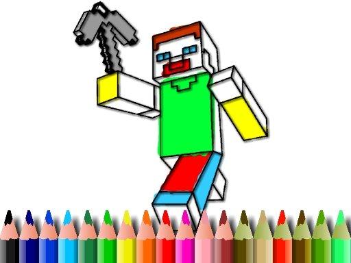 Jogo BTS Minecraft Coloring