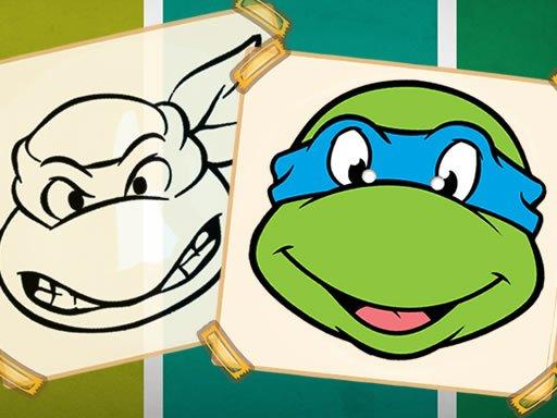 Jogo Ninja Turtles Coloring Book