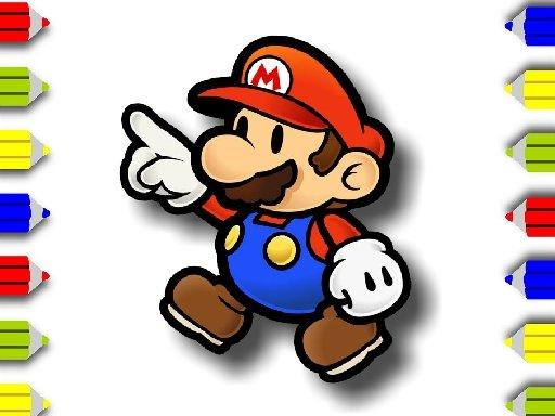 Jogo BTS Mario Coloring