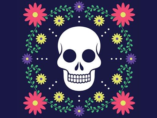 Jogo Colorful Skull Jigsaw