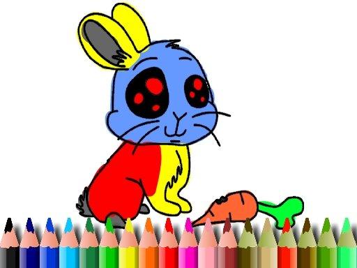 Jogo Livro para Colorir Coelho BTS