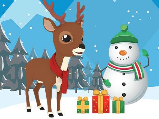 Jogo Christmas Deer Jigsaw