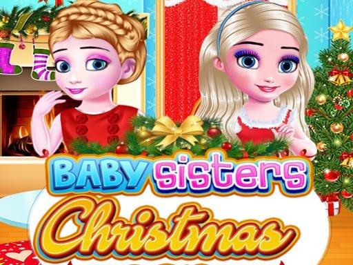 Jogo Irmãs bebê no Dia de Natal