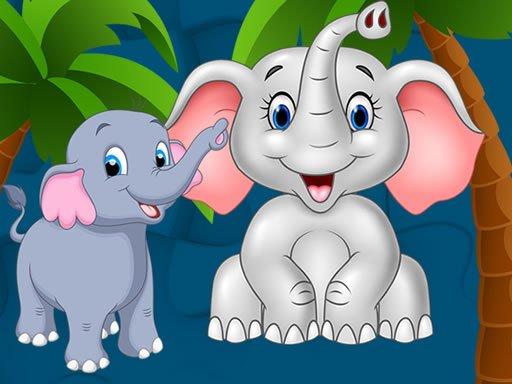 Jogo Sweet Elephants Jigsaw