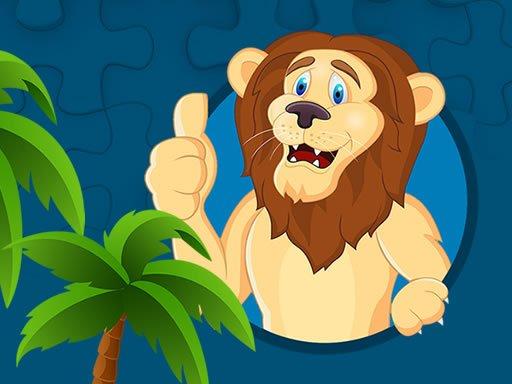 Jogo Quebra-cabeça de Leões Fortes