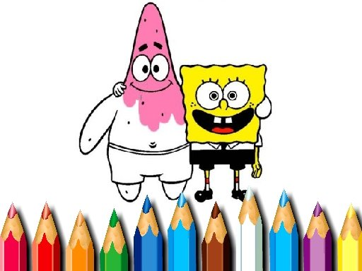 Jogo BTS Sponge Bob Coloring