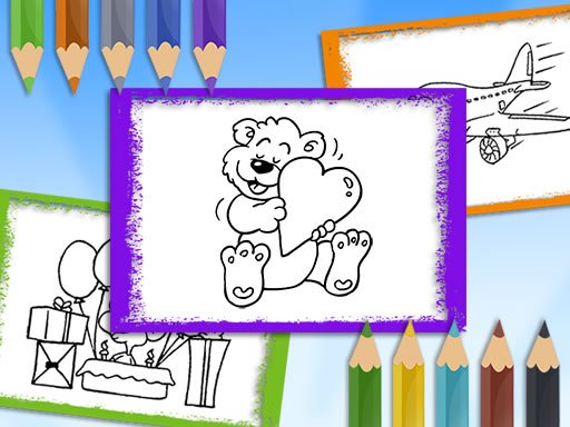 Jogo Livro para Colorir Desenho Animado
