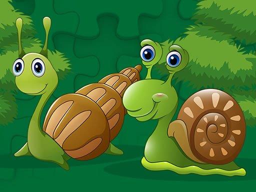 Jogo Caracóis Fofos Jigsaw – Cute Snails Jigsaw