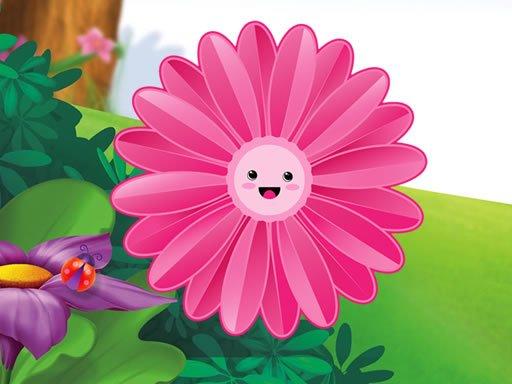 Jogo Quebra-cabeça de Flores Engraçadas