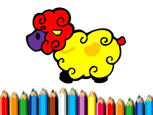Jogo Livro de Colorir Bebê Ovelha