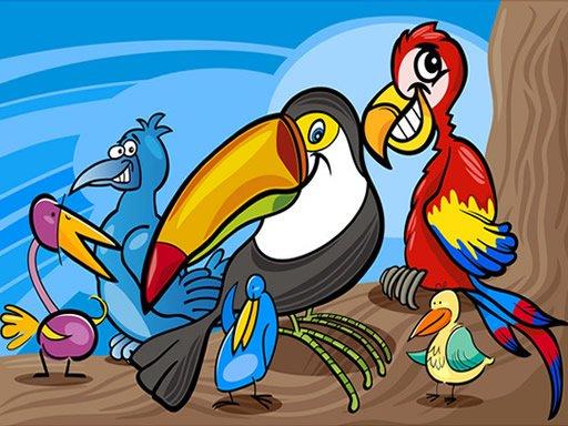 Jogo Coloração de Pássaros Exóticos