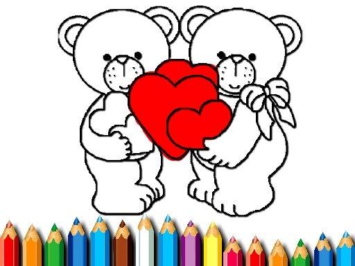 Jogo Feliz Dia dos Namorados Para Colorir