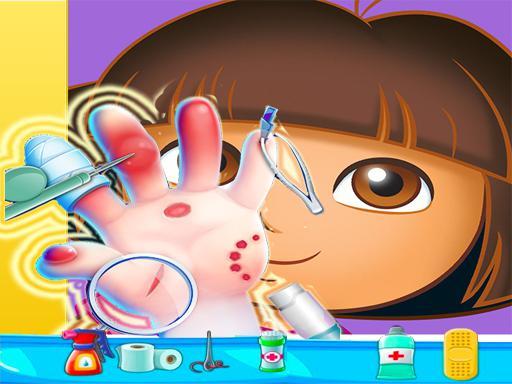 Jogo Dora Hand Doctor Fun