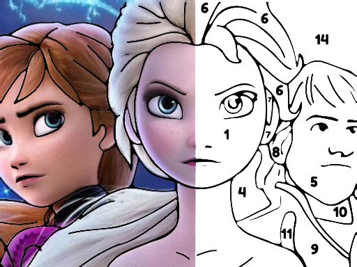 Jogo Color By Number With Frozen II
