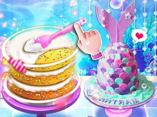 Jogo Unicorn Chef Mermaid Cake