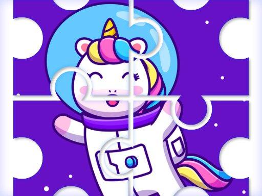 Jogo Cute Rainbow Unicorn Puzzles