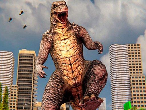 Jogo Monster Dinosaur Rampage City Attack