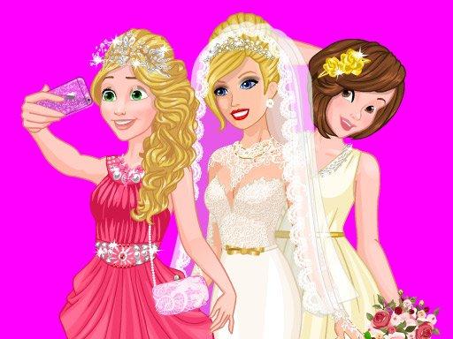 Jogue Barbie's Wedding Selfie With Princesses Jogo