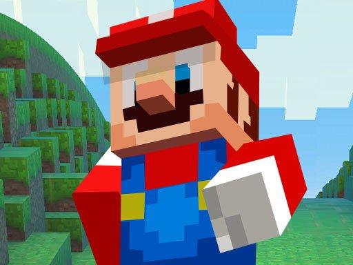 Jogo Super Mario MineCraft Runner
