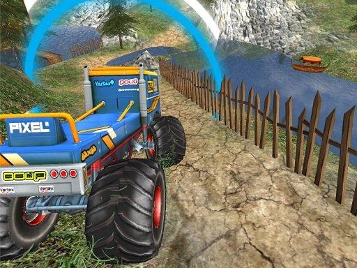 Jogo Monster Truck Offroad Driving Mountain