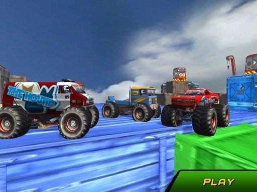 Jogo Monster Truck Stunts Sky Driving