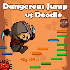 Jogo Dangerous Jump vs Doodle Jump
