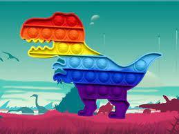 Jogo Dinosaur Pop It Jigsaw
